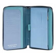 Портмоне-клатч из натуральной кожи Alliance 0-750 синий-мульти1