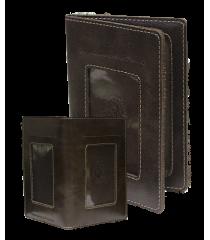 Бумажник для документов водителя ОВ-4-A дымчато-коричневый Apache