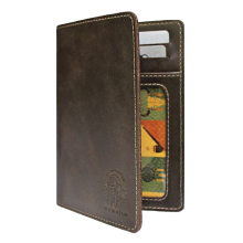Бумажник водителя натуральная кожа ОВ-А дымчато-коричневый Аpache