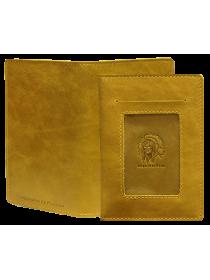 Обложка для автодокументов кожа ОВ-3-A табачно-желтый Apache