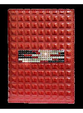 Бумажник водителя женский из натуральной кожи БС-12 red mesh Kniksen красный