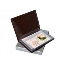 Портмоне для автодокументов с отделением для денег и карт из кожи БИ-1 бордо Person