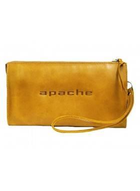 Клатч портмоне мужское кожаное для документов и денег БМ-А табачно-желтое