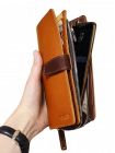 Портмоне-тревел мужское из натуральной кожи МК-S-8 рыжий Apache RFID