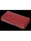 Портмоне кошелек кожаный женский С-ВП-2 друид красный Флауэрс
