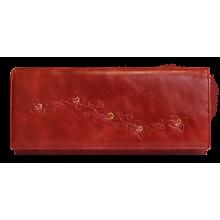 Портмоне кошелек женский кожаный Мэри ВП-17 пулл-уп красный Kniksen