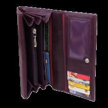 Портмоне кошелек женский кожаный Мэри ВП-17 друид фиолетовый Kniksen