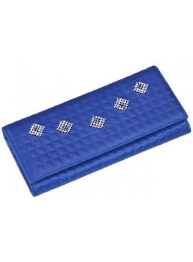 Портмоне кошелек женский кожаный с кристаллами Сваровски ВП-17 Ice Blue Kniksen