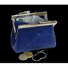 Кошелек синий на рамке тюльпан Мэри Kniksen