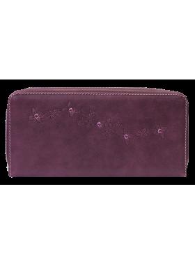 Кошелек портмоне женский на молнии из натуральной кожи Мэри ВП-1 друид фиолетовый Kniksen