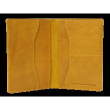 Обложка на паспорт ОП-2-A табачно-желтая Apache