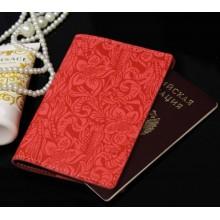 Обложка для паспорта женская натуральная кожа ОП-Ф аляска коралл Person
