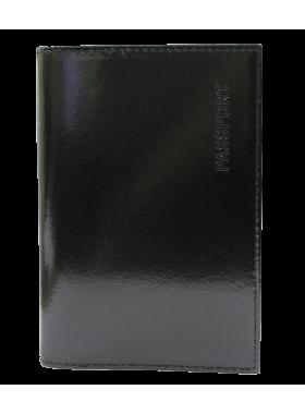 Обложка для паспорта черная СТ-ПО-2 Г Старк