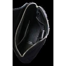 Нагрудная кожаная сумка СМ-2113-А черная Apache
