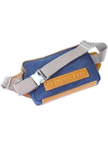 Поясная сумка для мужчин СП-5215-А канвас деним/желтый Apache