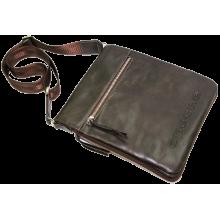 Сумка из натуральной кожи дымчато-коричневая СМ-6013-А Apache