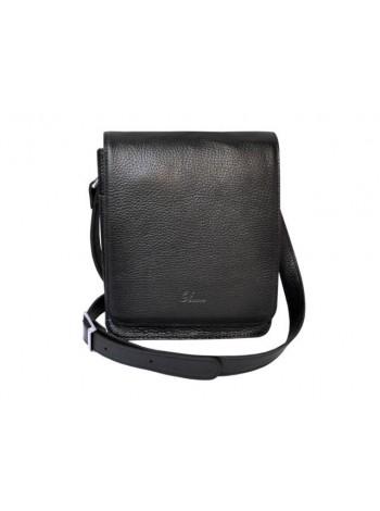 Сумка планшет мужская натуральная кожа СМ-3013 черная Person