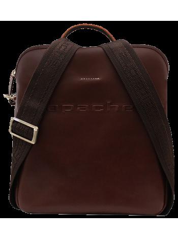 Сумка мужская из кожа СМ-9813-А коричневая Apache