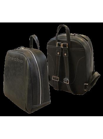Рюкзак мужской кожаный P-9013-A дымчато черный Apache