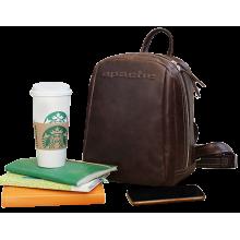 Рюкзак мужской кожа P-9013-A дымчато коричневый Apache