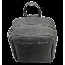 Мужской кожаный рюкзак P-9013-A друид серый Apache