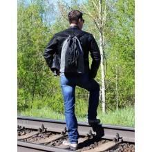 Сумка мешок рюкзак большая серая С-9614-А Apache