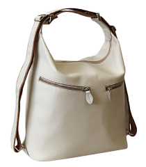 Женская сумка Лада бежевая рюкзак трансформер Kniksen