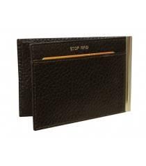 Зажим для денег ОК-PS коричневый Person RFID