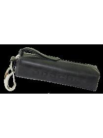 Чехол для ключей кожаный К-23-А дымчато-черный Apache