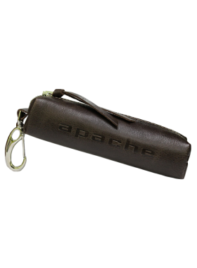 Чехол для ключей из кожи К-23-А дымчато-коричневый Apache