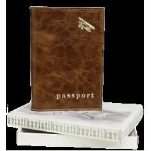 Обложка для паспорта А-ОП пулл-ап рыжий Авиатика