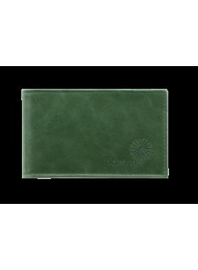 Визитница женская кожаная друид С-ВМ зеленый Флауэрс