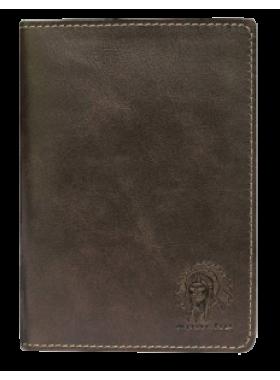 Бумажник водителя кожа ОВ-А дымчато-коричневый Аpache